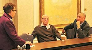Arthur Levine (center), Jason Low (right)
